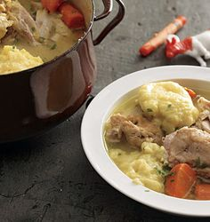 Epicurious Chicken and Dumplings.  Delicious (although I just use bisquick).