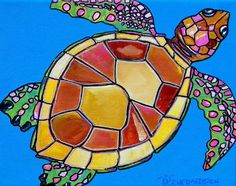 Choose your favorite sea turtle paintings from millions of available designs. All sea turtle paintings ship within 48 hours and include a money-back guarantee. Sea Turtle Painting, Sea Turtle Art, Turtle Love, Sea Turtles, Reptiles, Sea Turtle Pictures, Image Deco, Animal Art Projects, Underwater Art