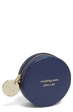 kate spade new york 'dot' leather coin purse