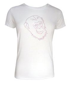 Viskoseshirt mit rasberry Affen mit hochwertigen Kristallelementen  http://www.redsilent.de/product_info.php/info/p94_viskose-t-shirt--pink-monkey-.html