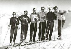 The Kitzbühel ski wonderteam with Toni Sailer, Anderl Molterer, Ernst Hinterseer, and many more...