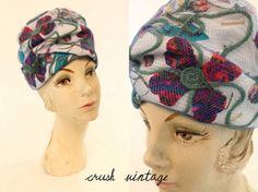 60s I Magnin Hat / 1960s Flower Turban  / The by CrushVintage, $34.00