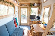 Rolling With Simplicity in a Tiny House on Wheels Just 240 square feet, this California home encourages efficient living