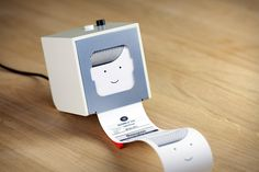 A tiny and adorable little printer for personal use. Print out notes, reminders and updates!
