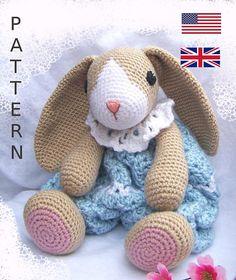 Crochet Bunny Pattern-Crochet Rag Doll Bunny Pattern-Amigurumi