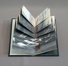 Chicago Octet, by Marlene Maccallum. Hand bound artist's book with folded paper structure, letterpress and inkjet printing. 2014