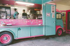K Chido - the little turquoise and pink taco truck. Dublin Food, Pink Taco, My Favorite Color, My Favorite Things, Hot, Truck, Colours, Turquoise, Cinco De Mayo
