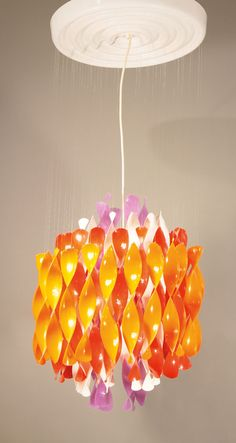 Verner Panton; #SP1 Plastic Ceiling Light for J. Lüber, 1969.