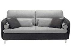 Canapé fixe 3 places CORSICA coloris gris/ anthracite prix promo Canapé…