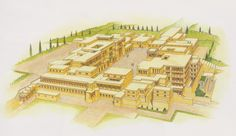The Palace of King Minos, Knossos, Crete (circa 2000-1500 BC).  (Giovanni Caselli/user: Aethon)