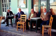 locals at the kafeneio. Coffee Places, Greece, Nostalgia, Traditional, Patterns, Couple Photos, Cafes, Antigua, Block Prints