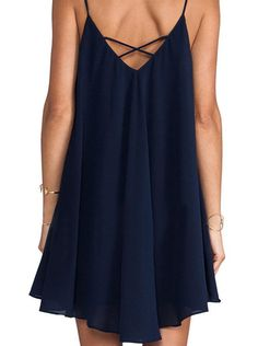 Spaghetti Strap Asymmetrical Shift Dress -SheIn(Sheinside) Mobile Site