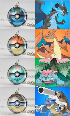 Pokemon Hoenn starter mega pokeballs, Mega Charizard X & Y balls, Mega Venusaur ball and Mega Blastoise ball #kanto #geekery #treatsforgeeks