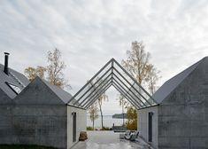 Świetny betonowy dom letni w Szwecji!