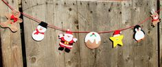 Cute Christmas bunting, Christmas banner, Christmas garland, felt Christmas, felt Christmas, Santa decoration, cute Christmas decor by TheCraftingGardener on Etsy Christmas Bunting, Felt Christmas, All Things Christmas, Christmas Ornaments, Santa Decorations, Colorful Decor, Gift Guide, Gingerbread, Garland