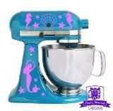 Mermaid Kitchen Stand Mixer Front & Back Decal Set  $9.99 http://www.mermaidhomedecor.com - Mermaid Kitchen