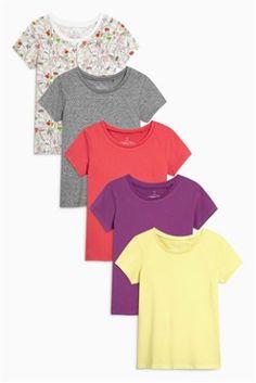 Deschis Pachet de cinci tricouri cu mânecă scurtă (3-16ani)