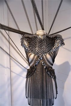 Fannie Schiavoni.  Grown up chain mail fit for a female warrior I'd like to see Arya in on Game of Thrones.