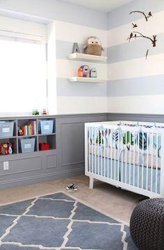 decorar la habitacin del beb con rayas