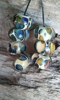 Desert Tortoise Lampwork Boro Glass Beads by LodahlArtGlass, $22.00