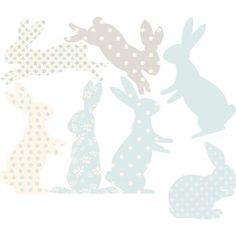 Rabbit Fabric Wall Stickers