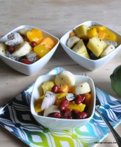 Thai Inspired Tropical Fruit Salad with Red Bean