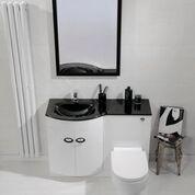 Pebble Series Combined Toilet and Basin Unit Left [WHI-BU002-BAS LH BOM] - £499.99 : Platinum Taps & Bathrooms