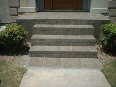 concrete stoop portico 4 steps 6x12 - Google Search