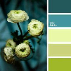 Zöld a belső: egy színkombináció – main Bathroom ideas color palettes Colour Pallette, Colour Schemes, Color Patterns, Color Combos, Green Palette, Paint Combinations, Green Color Palettes, Beautiful Color Combinations, Paint Schemes