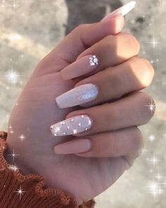 In seek out some nail designs and some ideas for your nails? Here's our listing of must-try coffin acrylic nails for modern women. Summer Acrylic Nails, Best Acrylic Nails, Acrylic Nail Designs, Nail Art Designs, Nails Design, Diamond Nail Designs, Acrylic Nails With Design, Summer Nails, Best Nail Designs