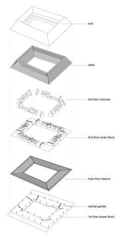 'Roof House' Proposal / Betillon/Dorval‐Bory Architectes,isometric