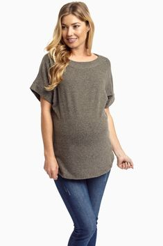 This is soft knit for a reason. We are in love with this material so much that we could live in it day in and day out. Luckily, this knit maternity top comes in several colors so you can stock up for those cooler months ahead.