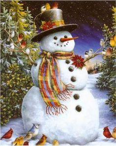 Personalised Christmas Cards Photo Blue Snowman x12 A6 Blank Inside H1959