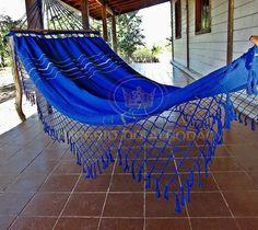 925b3f835 Rede De Dormir Descanso Casal Azul Caneta Com Madeira - R  79