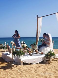 Multicultural Destination Wedding in Barcelona - Sofreh Aghd Wedding Planner, Destination Wedding, Persian, Barcelona, Wedding Decorations, Sea, Outdoor Decor, Wedding Planer, Persian People