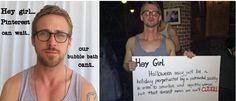 Ryan Gosling costume. Best costume of the year! Hilarious! A win in my book