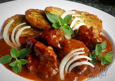 Czech Recipes, Ethnic Recipes, Ratatouille, Tandoori Chicken, Crockpot, Food And Drink, Tasty, Treats, Sweet