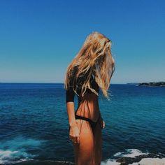 black long sleeve bikini