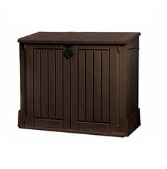 Brown Plastic Storage Unit Box Garden Shed Outdoor Store for Tools Lawn Mowers Patio Shade Protect your Garden Equipment---139.99---
