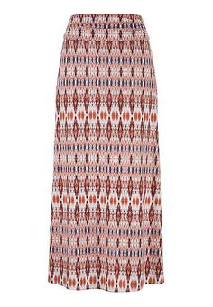 multi color ikat print maxi skirt (original price, $34) available at #Maurices