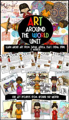 ART Around the World! My class will love this!
