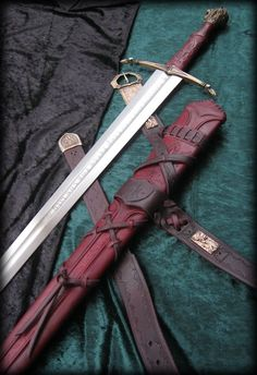 Peace Lily - Custom Medieval Sword and Scabbard by Brendan Olszowy Lannister Narnia Peter's Sword