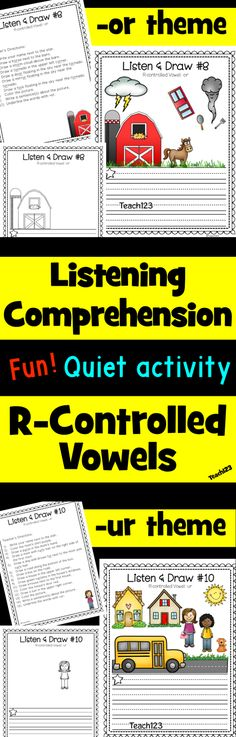 Quiet activity that helps students practice listening comprehension and r-controlled vowels.  paid