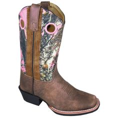 Smoky Mountain Boots Children Girls Mesa Brown/Pink Camo Leather
