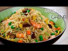 Arroz frito Yangzhou (Arroz Frito Chino) | Yeung Chow fried rice (揚州炒飯) - YouTube