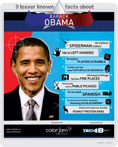 9 lesser known facts about Barack Obama #infographic