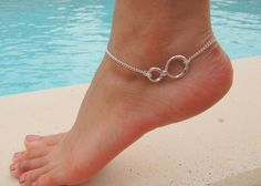 Silver Infinity Anklet by DeliBejeweled on Etsy, $8.99