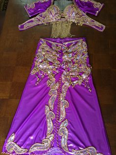 Professional Egyptian Custom-made Belly dance costume, Bellydance Dress, Handmade Oriental outfit, Skirt, Bra, two Sleeves, a head Band by LuxorbazarCo on Etsy