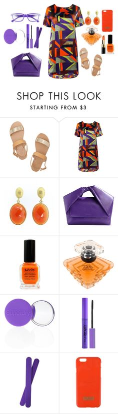 Purple and orange! by caroolnunees on Polyvore featuring Boohoo, Ancient Greek Sandals, J.W. Anderson, Corinne McCormack, Ted Baker, Wet n Wild, Lancôme, Superdry and NYX