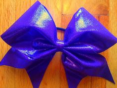 Purple shiny cheer bows by TonTonsBowtique on Etsy, $10.00